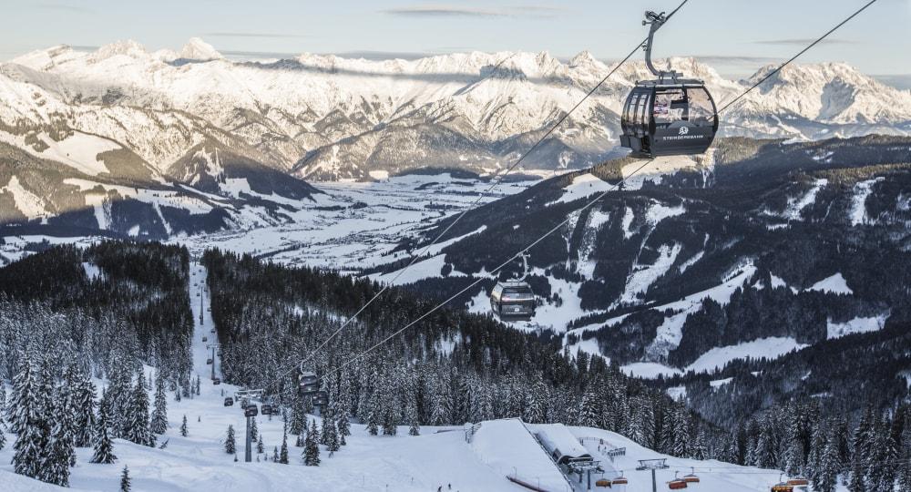 Ski-Gondel am Leoganger Asitz